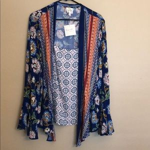 Anthropologie Fig and Flower BOHO Style Blouse XL